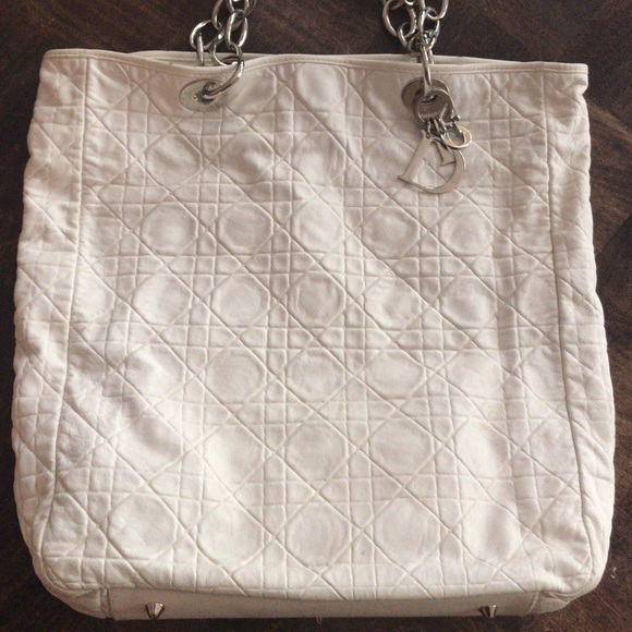 86ecd0a55bfb9e Dior Bags | Christian North South Soft Chain Tote | Poshmark